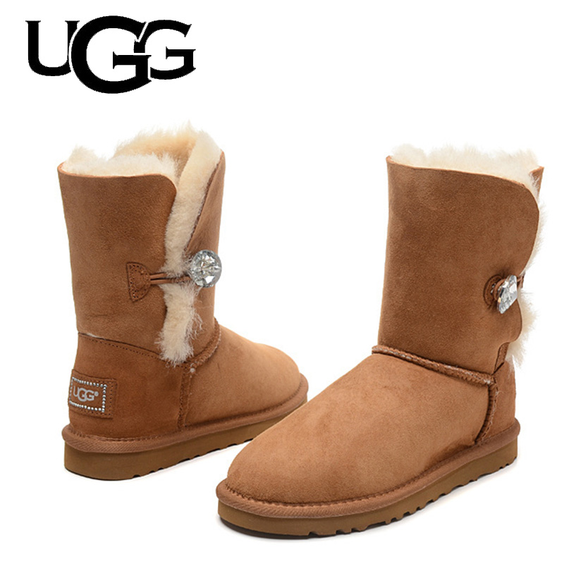 Classic 3/4 Mid Short Boot UGG Boots Original 1003349 Ladies With Button Ugged Women Boots Snow Boots Australia Boots Fur Wool