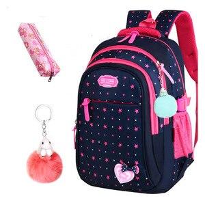 Image 1 - Школьные сумки для девочек со звездами, детский студенческий рюкзак, сумка для начальной школы, детские сумки, рюкзак Mochila Infantil