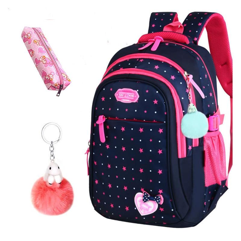 2020 New Hot Sale School Bags Children Backpacks Large Capacity Student Bag Simple Splash-proof Backpack Sweet Print Backpack