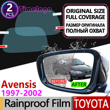 For Toyota Avensis T250 T25 2003 - 2008 Full Cover Anti Fog Film Rearview Mirror Rainproof Anti-Fog Films Clean Car Accessories