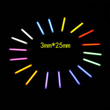 3*25mm DIY Accessories Tritium Gas Tube Self Luminous 25 Years Of High-tech Products EDC Multi-color Selection Glass Tube(China)