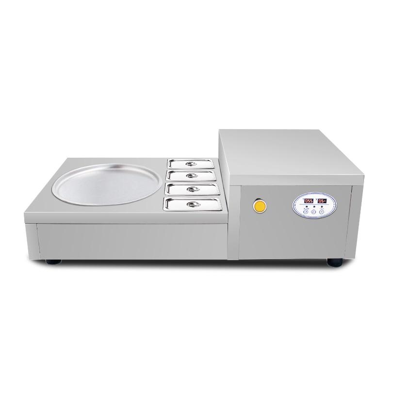 2020 Top Sale Desktop Snack Food Fried Ice Cream Machine Ice Cream Roll Machine