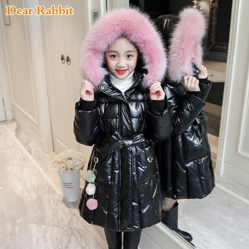 Зимняя теплая одежда для маленьких девочек до-30, утепленная Водонепроницаемая парка, пальто из искусственного меха, Детские хлопковые курт...