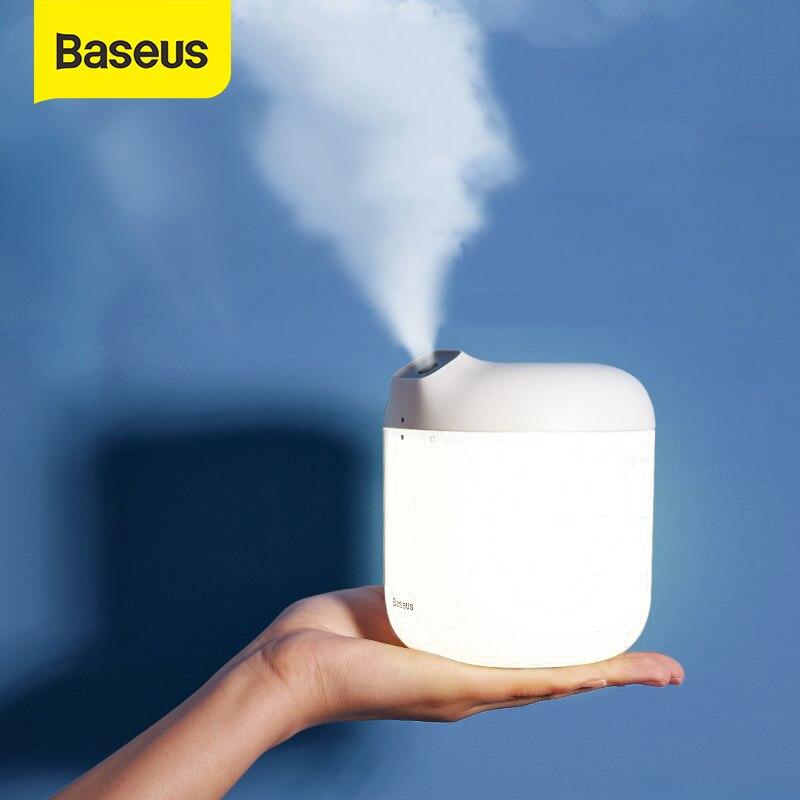 Baseus увлажнитель воздуха Difusor для домашнего офиса 600 мл большой объем увлажнитель воздуха с светодиодный лампой|Увлажнители воздуха| | - AliExpress