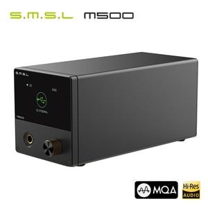 Image 2 - SMSL M500 MQA dac مضخم ضوت سماعات الأذن ES9038PRO فك الصوت USB DAC XU216 DSD512 XMOS محلل شفرة سمعي