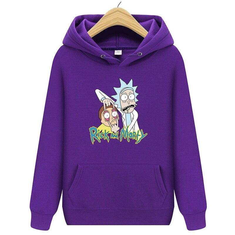 2019 Autum New Rick And Morty Mens Hoodies Cotton Funny Print Hoodie Man Fashion Rick Morty Fashion Casual Streetwear Sweatshirt