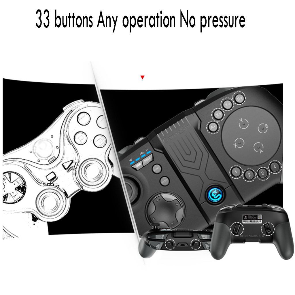 Game Pad Joystick Wireless Bluetooth Wireless Gamepad Gaming Controller for PS3 Android IOS Phone Pad PC Smart TV - 6