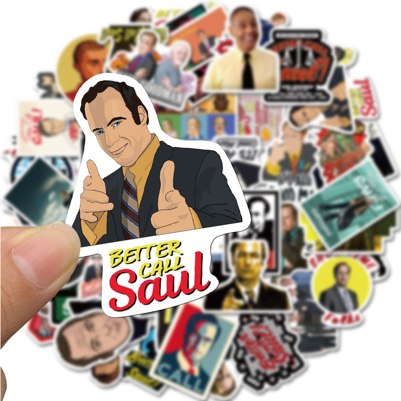 TD ZW 50 Pcs/lot Better Call Saul Stickers Classic Drama Sticker On Laptop Car Phone Luggage Motorcycle PVC Waterproof Decal