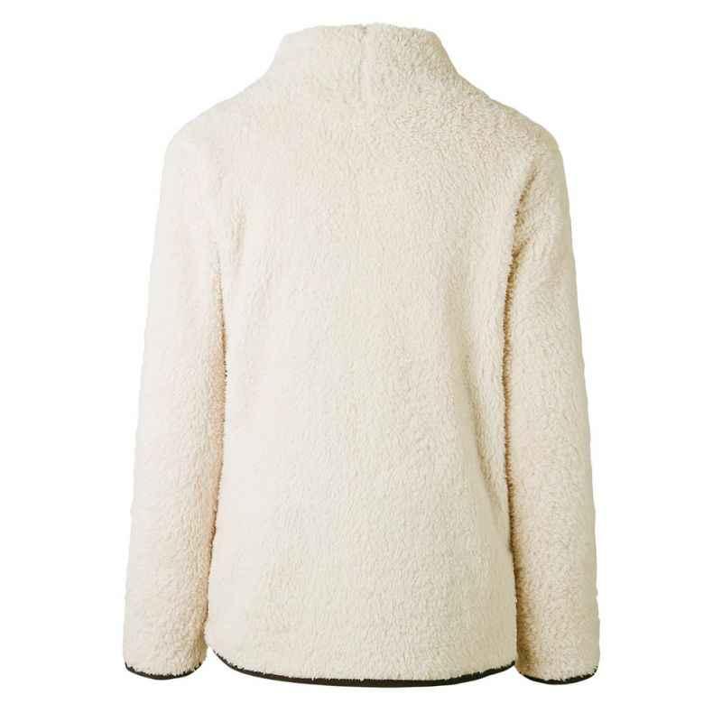 Mulheres Casual Velo Fofo Camisola de Gola Alta Outono Inverno Pullover Quente Moda Manga Comprida Tops Ladies Zipper Sólidos Blusas