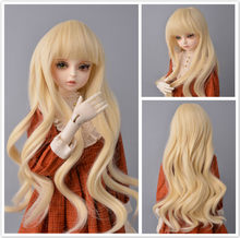 Wigs only Doll wigs Ombre yellow color Long Hair Doll Wig Korea High Temperature Fiber Doll Wigs Made for 1/3 bjd doll wig(China)