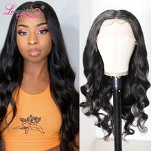 Волосы Longqi, волнистый парик на сетке, плотность 150%, бразильские волнистые волосы T-Part, парик на сетке 14-24 дюйма, человеческие волосы Remy T-Part, па...