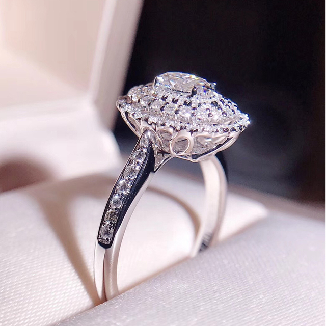 0.5ct 5mm Oval Cut Engagement&Wedding  Diamond Solitaire Ring Solid Genuine 18K White Gold for Women