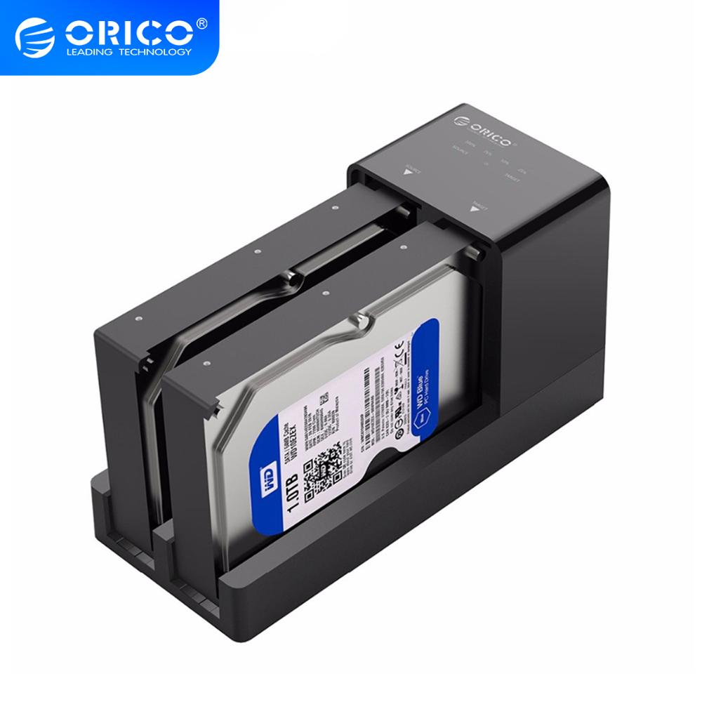 ORICO 6528US3 USB3.0 HDD Docking Station 3.5 / 2.5 inch Hdd SSD Enclosure Bay 12V 4A Power Supply Support Clone UASP 10TB