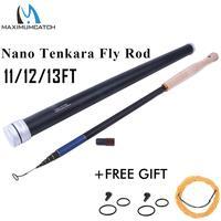 Maxcatch-caña de pescar de fibra de carbono Tenkara Nano, caña de pescar con mosca de 13 pies, 6:4/7:3, acción, 8/9 segmentos