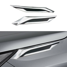CITALL Fit For Toyota RAV4 2019 ABS Chrome Car Exterior Front Head Light Lamp Eyelids Garnish Trim Cover Strips Decorative citall 2pcs abs black headlight head lamp light brow deco cover trim sticker car styling fit for toyota camry se xse 2018 2019