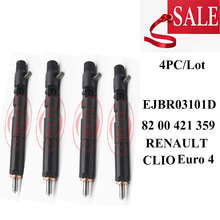4pc NEW  EJBR03101D (8200421359) Diesel Common Rail Injector Nozzle R03101D 82 00 421 359 for RENAULT CLIO Euro 4
