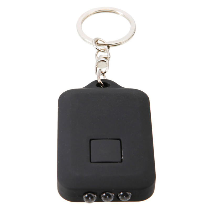 1PCS Black Mini Portable Solar Power 3 LED Light Keychain Keyring Torch Flashlight Outdoor Emergency Light Tools