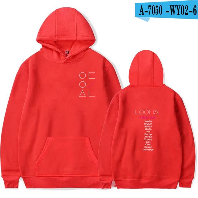LOONA The Same Style sweatshirt hoodies women men cotton long sleeve sweatshirts hoodie plus size S-4XL Jacket coat kpop clothes 8