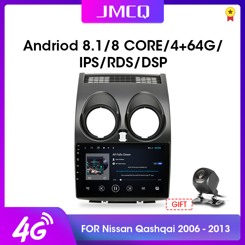 JMCQ 2din Android 9.0 <font><b>Car</b></font> <font><b>Radio</b></font> Multimidia Video Player Navigation GPS <font><b>RDS</b></font> Autoradio For Nissan Qashqai <font><b>1</b></font> J10 2006-2013 2 <font><b>Din</b></font> image