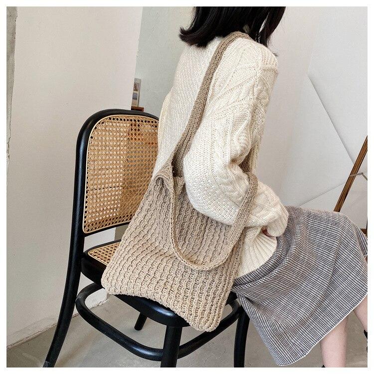 algodão pano meninas tote shopper saco grande bolsa feminina