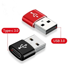 Male-Adapter Converter Type-C female Macbook iPhone Huawei Samsung S20 Ultra To USB