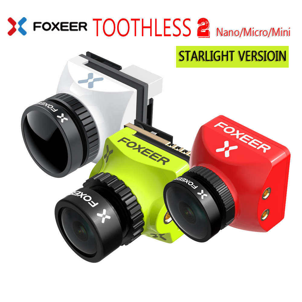 Foxeer Mini/Micro/Nano Toothless 2 CMOS 1/2 1200TVL PAL/NTSC 4:3 16:9 FPV OSD Camera Natural Image For RC FPV Racing Drone