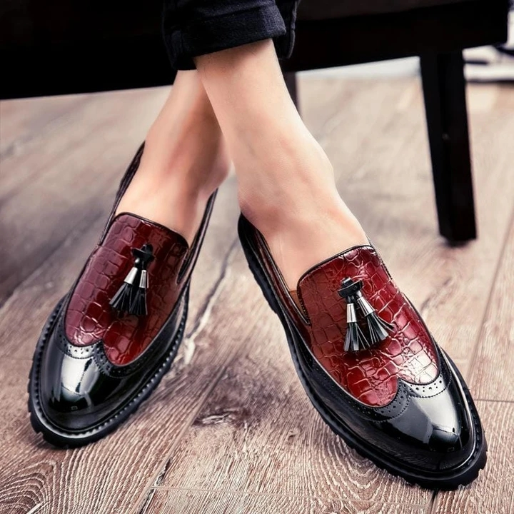 Men Leather Shoes Low Heel Casual Shoes Dress Shoes Brogue Shoes Spring Ankle Boots Vintage Classic Male Casual F56