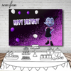 Sensfun Purple Black Junior Vampirina Backdrop Balloons Girls Birthday Party Backgrounds 7x5FT Vinyl