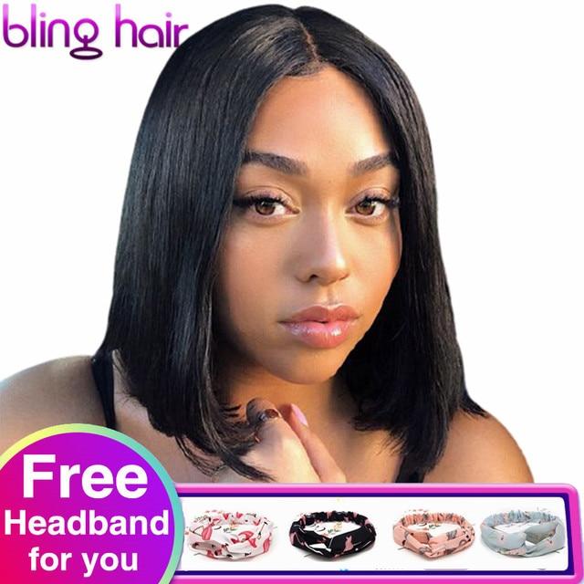 Straight Bob Human Hair Wigs 4x4 Lace Closure Wigs Brazilian Straight Lace Front Human Hair Wigs Remy Short Bob Wig bling hair