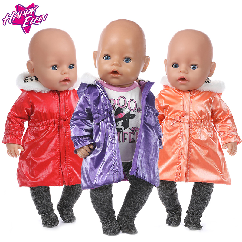 2020  New Down Clothes 3 Pcs In 1, Doll Clothes Fit For 43cm   Doll 17 Inch Reborn Doll Clothes