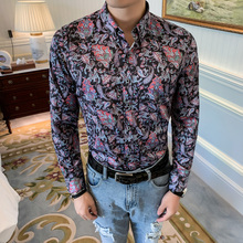 2019 Men Shirt Long Sleeve Social Shirts Casual Slim Fit Formal Dress Shirts Streetwear Clothes Camisa Masculina автокресло zlatek colibri красный 0 1 5 лет 0 13 кг группа 0