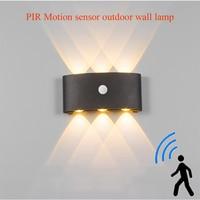 Nordic LED wasserdichte outdoor wand lampe IP65 Aluminium PIR Motion sensor wand licht garten veranda leuchte AC110V/220V
