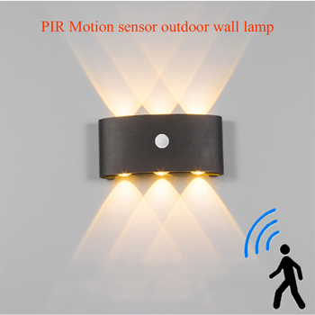 Nordic LED waterproof outdoor wall lamp IP65 Aluminum PIR Motion sensor wall light garden porch sconce AC85--265V 36w dmx512 rgb led wall washer ac85 265v or ac24v outdoor spotlights garden light led floodlight ip65 waterproof buildings light