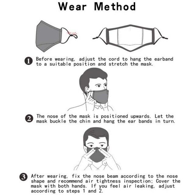 Kids Masks Children Cotton Anti-Dust Face Mouth Mask Cartoon PM2.5 Protective Respirator Reusable Anti Flu Masks1 5