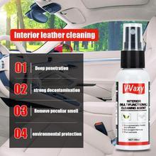 V-Vaxy, 50 мл, для чистки салона автомобиля, для мытья кожи, для мытья сидений автомобиля, очиститель интерьера, обслуживание, пластиковое пенное вещество, аксессуары для автомобиля