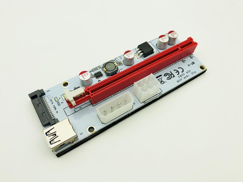 6 шт./партия PCI-E PCI E 1x до 16x горнодобывающая машина расширитель 008C Riser Card адаптер 60 см кабель питания для Bitcoin BTC Miner