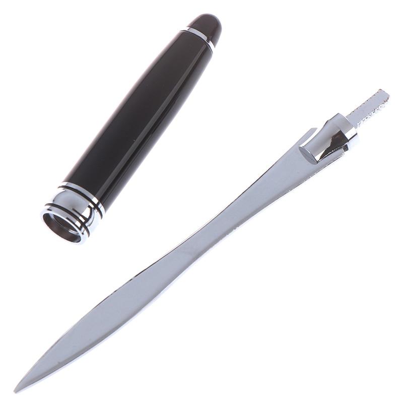 1PCS Useful Black Office School Letter Opener Cut Paper Tool Letter Supplies Cutter Stainless Steel Letter Opener 4
