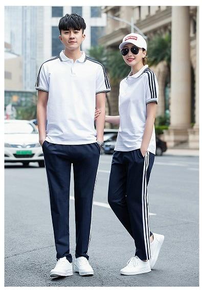 Summer New Style Mian Gai Si Junior High School High Primary School Uniform Business Attire Groups Uniform Couples Men And Women