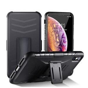 3 в 1 противоударный чехол с зажимом для поясного ремня для Huawei P30 Pro P20 Pro Mate 20 Lite Pro Nova 4 Y3 Y5 Y6 Y9, задняя крышка, держатель для телефона