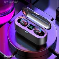 HATOSTEPED Auricolar TWS Capsule No wires V5.0 Bluetooth Auricolar Low Coffee Sound Stereo Auricolar Sport For Mi Iphone