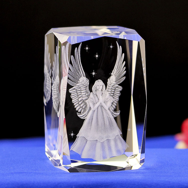 Crystal laser inside carving gifts Angel First holy communion Crystal inner engraving crafts Christian Decor Ark Of The Covenant