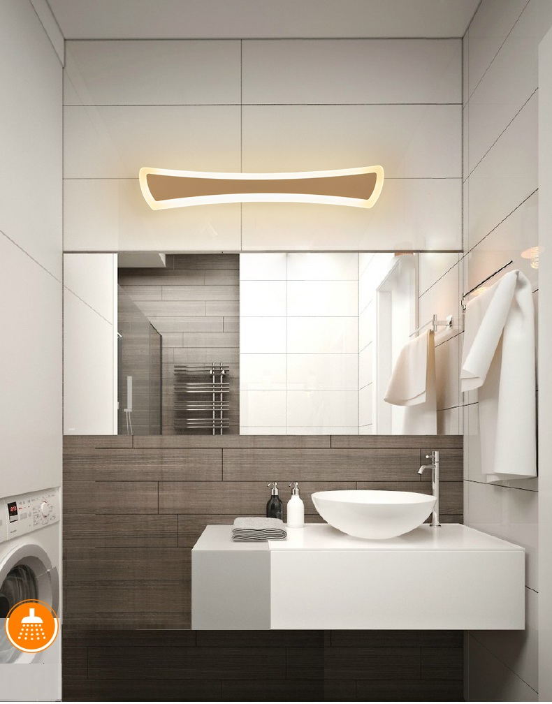 Lumières De Salle De Bains €38.64 28% de réduction moderne led miroir lumières 40cm ~ 120cm applique  salle de bain chambre tête de lit applique murale lampe déco anti buée et