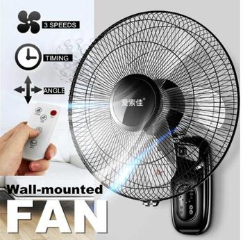 Wall fan wall-mounted electric fan home restaurant shaking head mute remote control 16 inch industrial wall-mounted fan cheap wall mounted industrial horns fan 500mm 750mm page 3