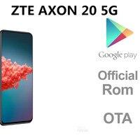 DHL entrega rápida ZTE Axon 20 5G teléfono inteligente pantalla huella identificación facial 64,0 M 5 cámaras 6,92
