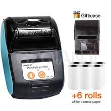 POS беспроводной мини принтер с Bluetooth 58 мм, портативный термопринтер для чеков, для телефона, Android, iOS, Windows, карманная печать купюр