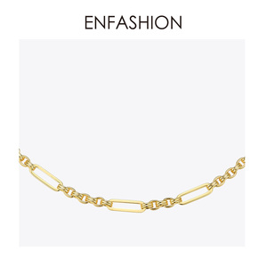 Image 3 - ENFASHION Long Link Chain Choker Necklace Women Gold Color Statement Necklace Lady Fashion Femme Jewelry Dropshipping P193059
