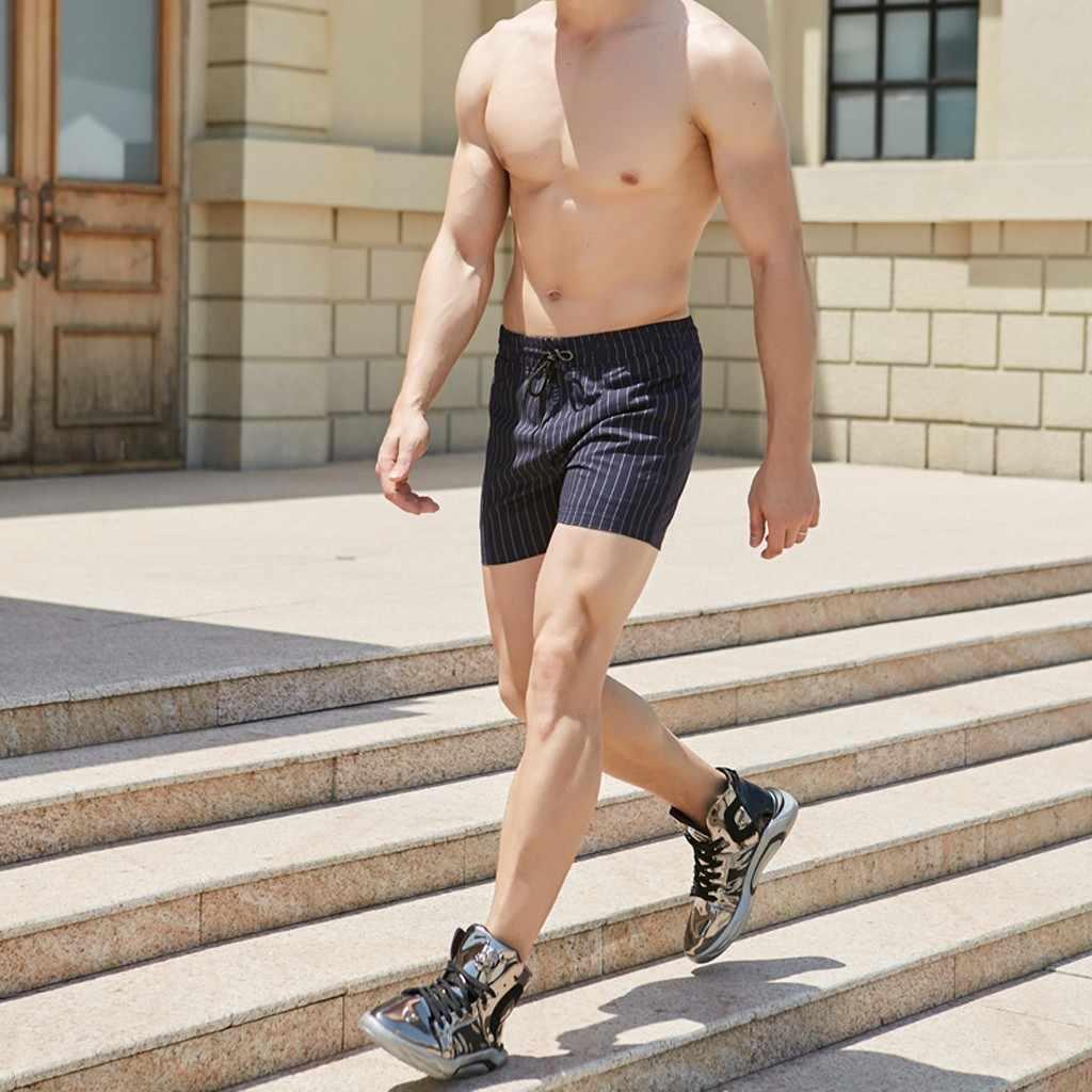 Calções casuais dos homens marca nova placa shorts 2020 dos homens verão papagaios à prova dwaterproof água sólida cintura elástica moda curto homme 1.29