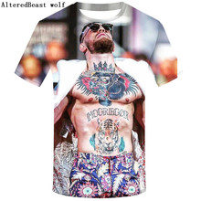 2021 New 3d Men T-shirt Brand Conor Mcgregor Funny T shirt 3D Short Sleeve O-Neck Tops Casual Tees Hipster