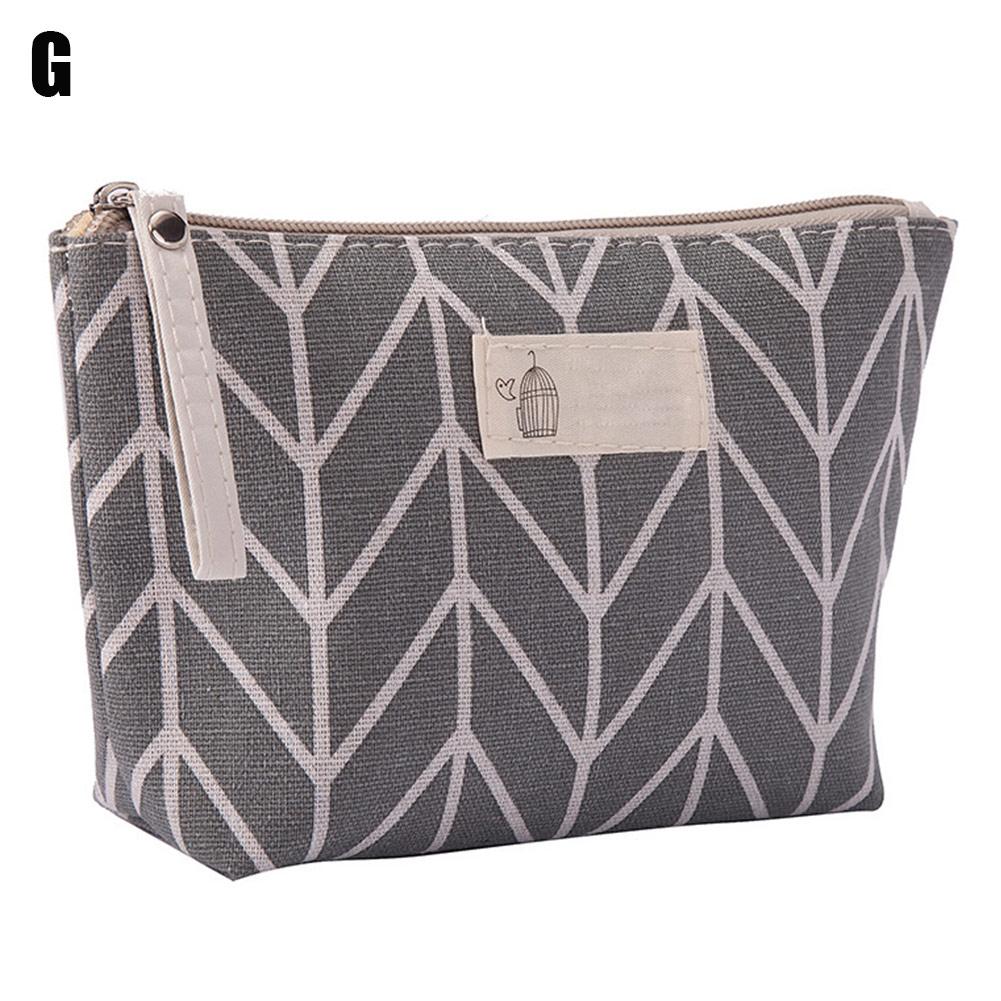 Fashion Portable Large Capacity Cosmetic Bag Maleta De Maquiagem Ladies Casual Printed Storage Makeup Bag Pouch