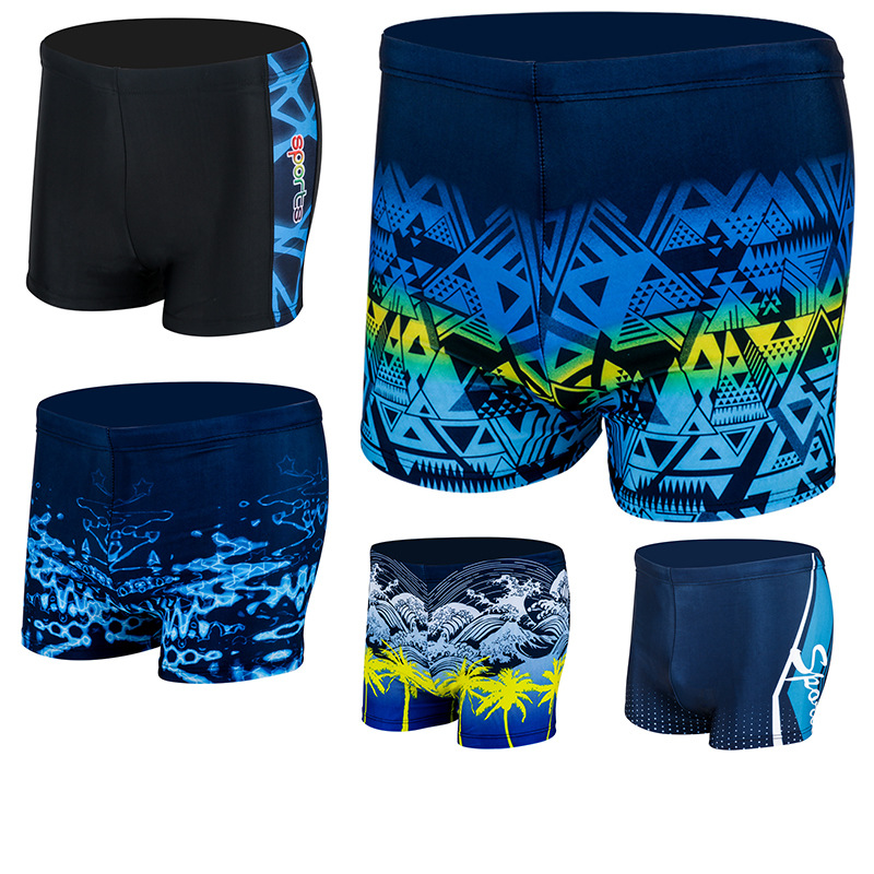 Xin Adult MEN'S Swimming Trunks Korean-style Quick-Dry Boxer Large Size Shorts Bubble Hot Spring Swimming Plus-sized Printed